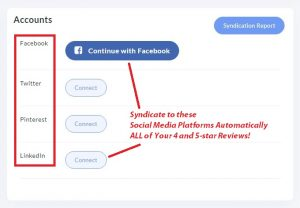 review syndication social media platforms